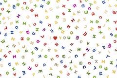 Viele Buchstaben von verschiedenen Farben vektor abbildung