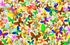 Viele bunte Schmetterlinge vektor abbildung