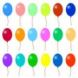 Viele bunten Ballone stock abbildung