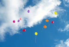 Viele bunten baloons Lizenzfreie Stockfotos