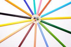 Viele bunten Bleistifte Lizenzfreie Stockfotos