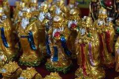 Viele des goldenen Buddhas Lizenzfreie Stockbilder