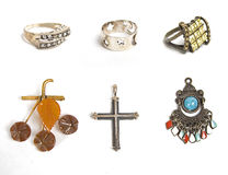 Viele diffirent Juwelen Stockfotos