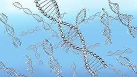Viele DNA-Ketten beim Wasserschwimmen lizenzfreie abbildung