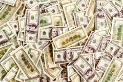 Viele 100 Dollar Hintergrund Stockfoto