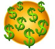 Viele Dollar-Zeichen-Clipart stockfoto