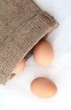 Viele Eier sind im Beutel. Lizenzfreies Stockfoto