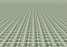 Viele ein Dollarscheine Lizenzfreie Stockfotografie