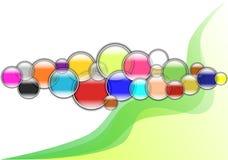 Mehrfarbiger Blasenhintergrund Stockbilder