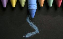 Viele Farben der Kreide Lizenzfreies Stockfoto