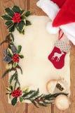 Viele Feiertagsverzierungen und -geschenke Lizenzfreie Stockbilder