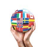 Viele Flaggen von verschiedenen Ländern Stockbild