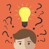 Viele Fragen und Einblick vektor abbildung