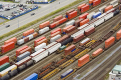 Viele freightliners Lizenzfreie Stockfotografie