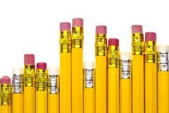 Viele Gelb Bleistifte Lizenzfreie Stockfotos