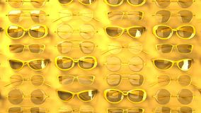 Viele gelben Gläser