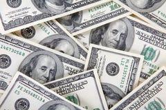 Viele Gelddollar Stockfoto
