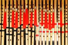 Viele geriffelt Hintergrund oder Muster von Flöten Stockfotos