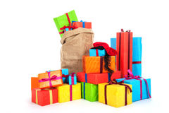 Viele Geschenke für holländischen Sinterklaas Vorabend Stockfoto
