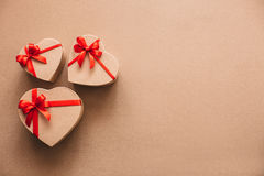 Viele Geschenkherzen Liebe Stockfoto