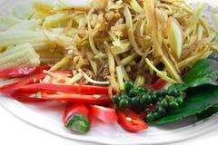 Viele Gewürze und Kraut für machen thailändisches Lebensmittel Lizenzfreie Stockbilder