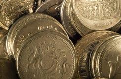 Viele glänzenden Pfund Lizenzfreie Stockfotos