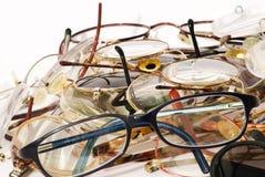 Viele Gläser viele Farben Stockbild