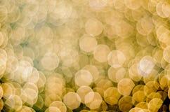 Viele glühenden unscarbe runden Lichter Stockfotografie