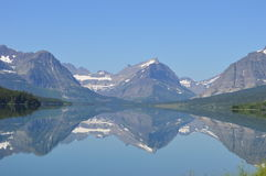 Viele Gletscher-Reflexion Lizenzfreie Stockfotografie