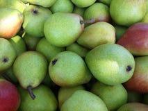 Viele grüne Birnen stockbild