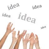Viele Hände möchten ein Wort abfangen Lizenzfreies Stockfoto