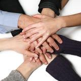 Viele Hände zusammen Lizenzfreies Stockbild