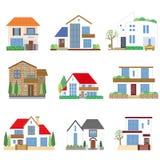 Viele Häuser Lizenzfreies Stockbild