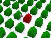 Viele Häuser für Verkauf Lizenzfreies Stockfoto