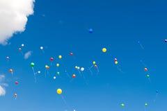 Viele hellen baloons Stockbild