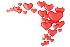 Viele Herzen 3d auf Weiß Stockbilder
