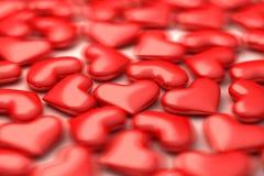 Viele Herzen 3d im defocus vektor abbildung