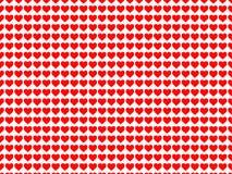 Viele Herzen im weißen Hintergrund stock abbildung