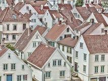 Viele Holzhäuser Lizenzfreies Stockfoto
