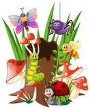 Viele Insekten im Garten vektor abbildung