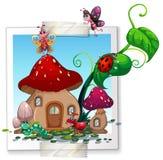 Viele Insekten am Pilzhaus stock abbildung