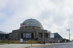Viele Kind-visitng das Adler-Planetarium Lizenzfreies Stockbild