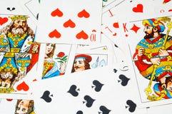 Klassische Spielkarten Stockfoto