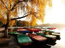 Viele kleinen Boote Stockbilder