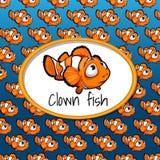 Viele kleinen Clownfische, Kartenbeschaffenheitssteigung lizenzfreie abbildung