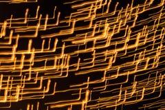Viele kleinen Lichtquellen mit langer Belichtung Lizenzfreie Stockfotos