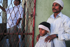 Viele Leute bei Sri Pada in Sri Lanka Stockbilder