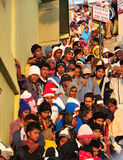 Viele Leute bei Sri Pada in Sri Lanka Lizenzfreie Stockbilder