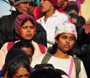 Viele Leute bei Sri Pada in Sri Lanka Lizenzfreies Stockbild