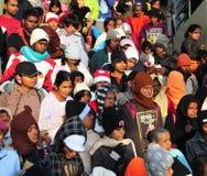 Viele Leute bei Sri Pada in Sri Lanka Lizenzfreie Stockfotografie